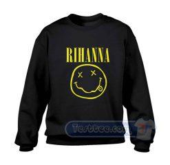 Rihanna Nirvana Logo Sweatshirt