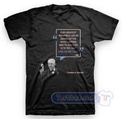 Word Wisdom Thomas A Edison Tees