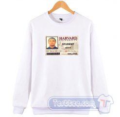 Lil Pump Harvard College Card Sweatshirt