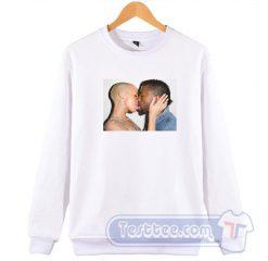 Cheap Amber Rose Kiss Kanye West Sweatshirt