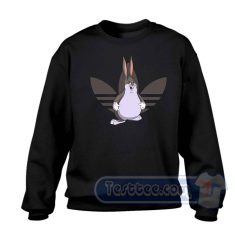 Big Chungus X Adidas Parody Graphic Sweatshirt
