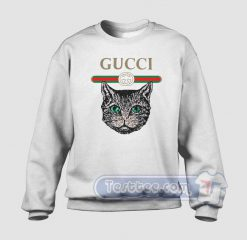 Cat Vintage Belt Graphic Sweatshirt