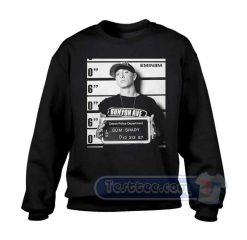 Eminem Mugshot Black Graphic Sweatshirt