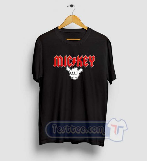 Mickey Mouse ACDC Style Tees