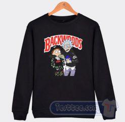 Rick And Morty Backwoods Graphic Sweatshirt