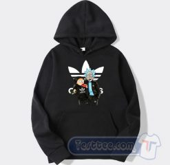 Rick And Morty X Adidas Parody Graphic Hoodie