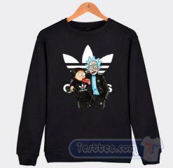 Rick And Morty X Adidas Parody Graphic Sweatshirt