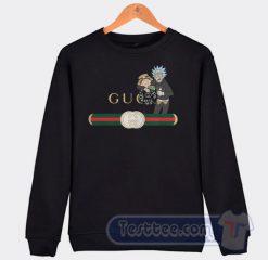Rick And Morty X Gucci Parody Graphic Sweatshirt