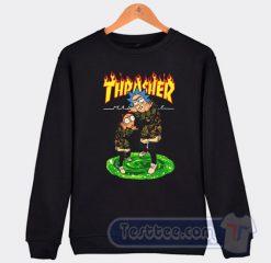 Rick And Morty X Thrasher Graphic Sweatshirt