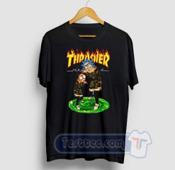 Rick And Morty X Thrasher Graphic Tees
