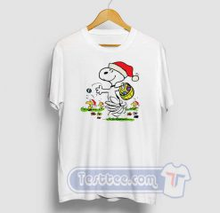 Snoopy And Little Woodstock Christmas Tees