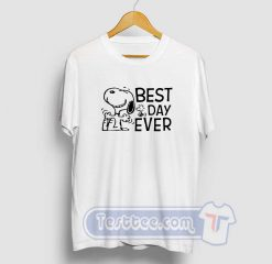 Snoopy Best Day Ever Graphic Tees