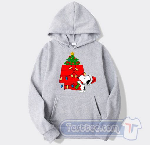 Snoopy Christmas Tree Graphic Hoodie