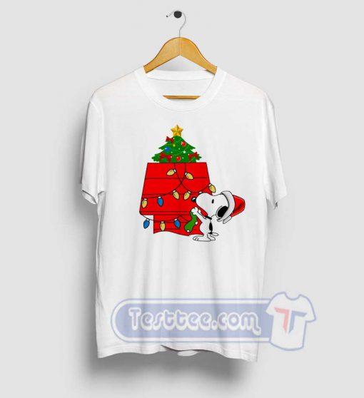 Snoopy Christmas Tree Graphic Tees