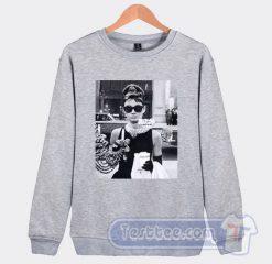 Audrey Hepburn Sunglasses Breakfast At Tiffany's Sweatshirt