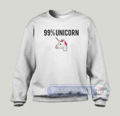 99% Unicorn Graphic Sweatshirt