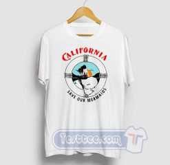 California Save Our Mermaid Graphic Tees