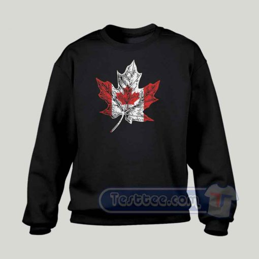 Canadian Maple Leaf Graphic Sweatshirt