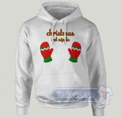 Christmas Not Nipple Graphic Hoodie