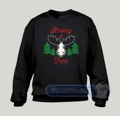 Strong And Free Canada Graphic Sweatshirt