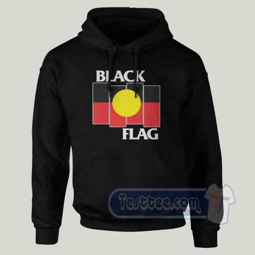 Black Flag Aboriginal X Flag Graphic Hoodie