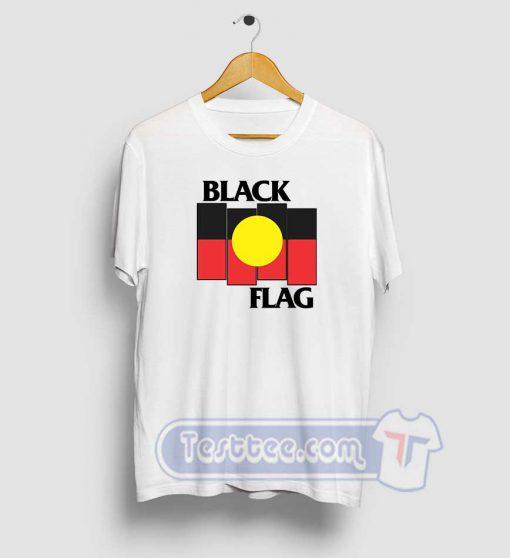 Black Flag Aboriginal X Flag Graphic Tees