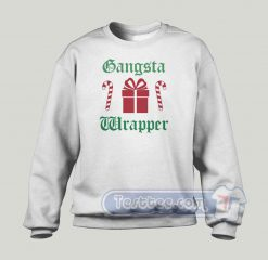 Gangsta Wrapper Christmas Graphic Sweatshirt