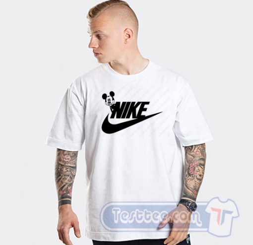 Mickey Mouse Nike Parody Graphic Tees