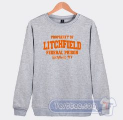 Property Of Federal Prison Graphic Sweatshirt