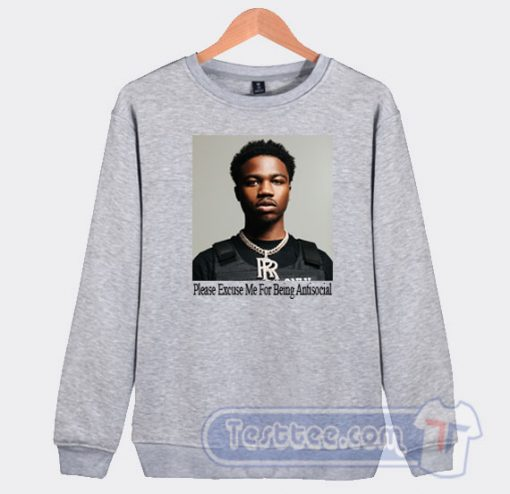 Roddy Ricch Face Graphic Sweatshirt