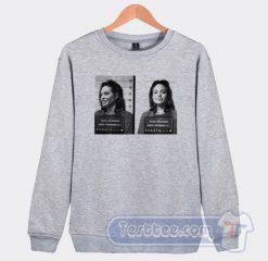Angelina Jolie Mugshot Graphic Sweatshirt