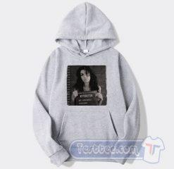 Amy Winehouse Mugshot Graphic Hoodie