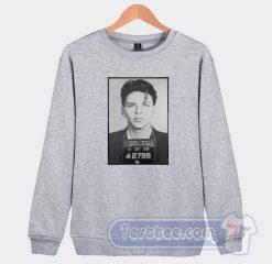 Frank Sinatra Mugshot Graphic Sweatshirt