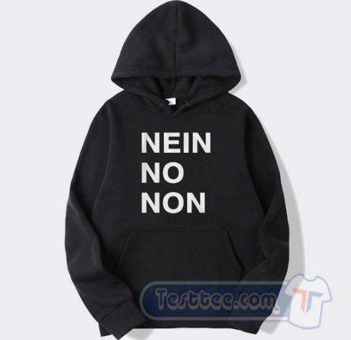 Nein No Non Thom Yorke Graphic Hoodie