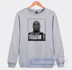 Tupac Shakur Mugshot Graphic Sweatshirt
