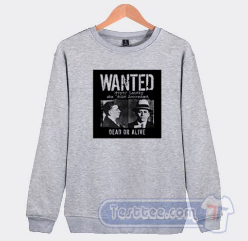 Wanted Meyer Lansky Mugshot Graphic Sweatshirt