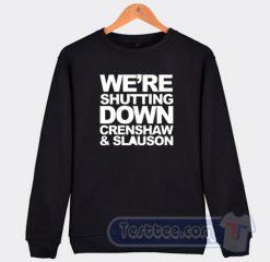 RIP Nipsey Hussle Crensaw Slauson Graphic Sweatshirt