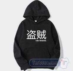 100 Thieves Merch Japanese Graphic Hoodie