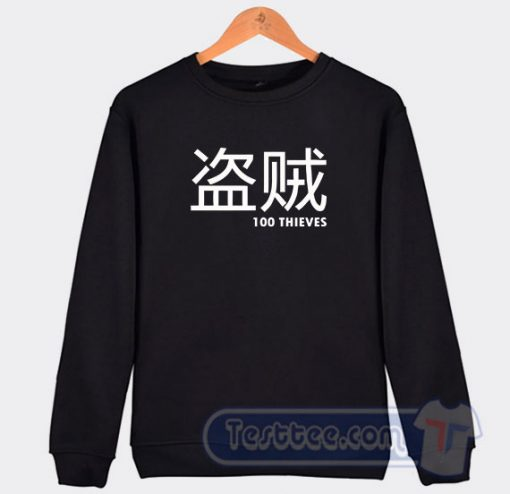 100 Thieves Merch Japanese Graphic Sweatshirt