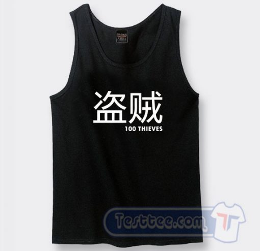 100 Thieves Merch Japanese Graphic Tank Top