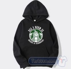 All I Need Is Disney And Starbucks Graphic Hoodie