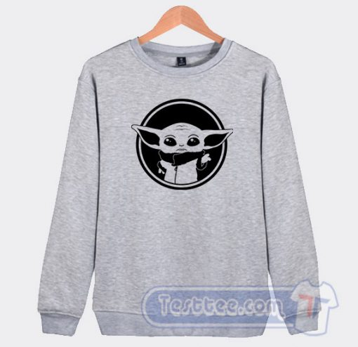 Baby Yoda Face Graphic Sweatshirt