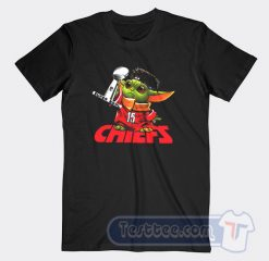 Baby Yoda Kansas City Chiefs Super Bowl Graphic Tees