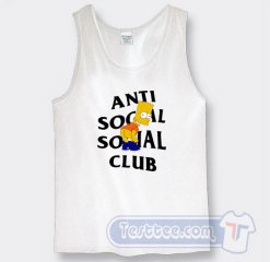 Bart Simpson X Anti Social Social Club Graphic Tank Top