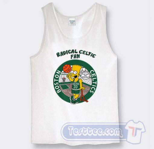 Bart Simpson Radical Celtics Graphic Tank Top