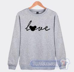 Love Mickey Mouse Graphic Sweatshirt
