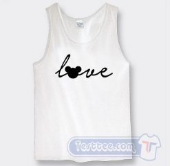 Love Mickey Mouse Graphic Tank Top