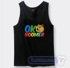 Ok Boomer Shiba Inu Dog Graphic Tank Top