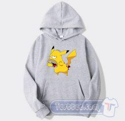 Pikachu Homer Simpson Graphic Hoodie