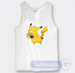 Pikachu Homer Simpson Graphic Tank Top
